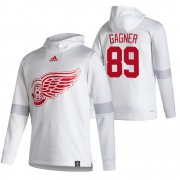 Wholesale Cheap Detroit Red Wings #89 Sam Gagner Adidas Reverse Retro Pullover Hoodie White