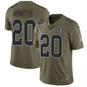 Wholesale Cheap Nike Raiders #20 Damon Arnette Olive Men's Stitched NFL Limited 2017 Salute To Service Jersey