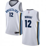 Cheap Youth Grizzlies #12 Ja Morant White Basketball Swingman Association Edition Jersey