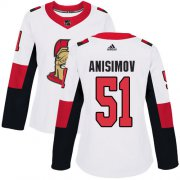 Wholesale Cheap Adidas Senators #51 Artem Anisimov White Road Authentic Women's Stitched NHL Jersey