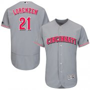 Wholesale Cheap Reds #21 Michael Lorenzen Grey Flexbase Authentic Collection Stitched MLB Jersey