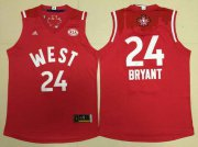 Wholesale Cheap 2015-16 NBA Western All-Stars Men's #24 Kobe Bryant Revolution 30 Swingman Red Jersey