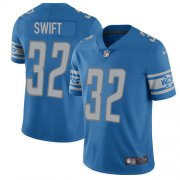 Wholesale Cheap Nike Lions #32 D'Andre Swift Blue Team Color Youth Stitched NFL Vapor Untouchable Limited Jersey