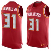 Wholesale Cheap Nike Buccaneers #31 Antoine Winfield Jr. Red Team Color Men's Stitched NFL Limited Tank Top Jersey