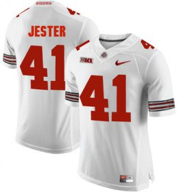 Wholesale Cheap Ohio State Buckeyes 41 Hayden Jester White College Football Jersey