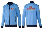 Wholesale Cheap MLB New York Mets Zip Jacket Blue_1