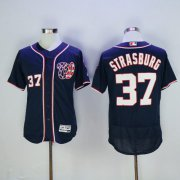 Wholesale Nationals #37 Stephen Strasburg Navy Blue Flexbase Authentic Collection Stitched Baseball Jersey