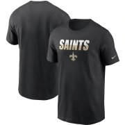 Wholesale Cheap New Orleans Saints Nike Split T-Shirt Black