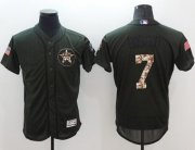 Wholesale Cheap Astros #7 Craig Biggio Green Flexbase Authentic Collection Salute to Service Stitched MLB Jersey
