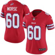 Wholesale Cheap Nike Bills #60 Mitch Morse Red Women's Stitched NFL Limited Rush Jersey