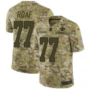 Wholesale Cheap Nike Saints #77 Willie Roaf Camo Men's Stitched NFL Limited 2018 Salute To Service Jersey