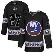 Wholesale Cheap Adidas Islanders #27 Anders Lee Black Authentic Team Logo Fashion Stitched NHL Jersey