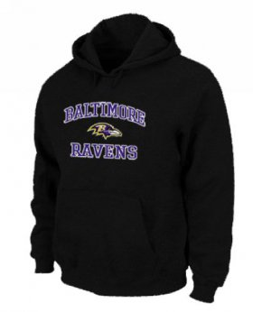 Wholesale Cheap Baltimore Ravens Heart & Soul Pullover Hoodie Black