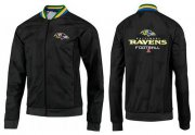 Wholesale Cheap NFL Baltimore Ravens Victory Jacket Black_3