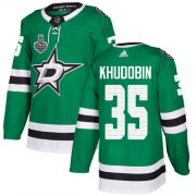 Cheap Adidas Stars #35 Anton Khudobin Green Home Authentic Youth 2020 Stanley Cup Final Stitched NHL Jersey
