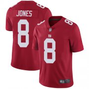 Wholesale Cheap Nike Giants #8 Daniel Jones Red Alternate Men's Stitched NFL Vapor Untouchable Limited Jersey