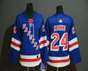 Wholesale Cheap Youth New York Rangers #24 Kaapo Kakko Royal Blue Home Adidas Hockey Stitched NHL Jersey
