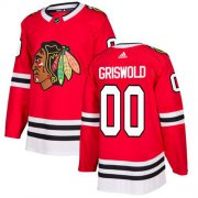 Wholesale Cheap Adidas Blackhawks #00 Clark Griswold Red Home Authentic Stitched NHL Jersey