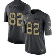 Wholesale Cheap Nike Browns #82 Ozzie Newsome Black Men's Stitched NFL Limited 2016 Salute to Service Jersey