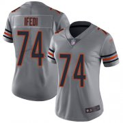 Wholesale Cheap Nike Bears #74 Germain Ifedi Silver Women's Stitched NFL Limited Inverted Legend Jersey
