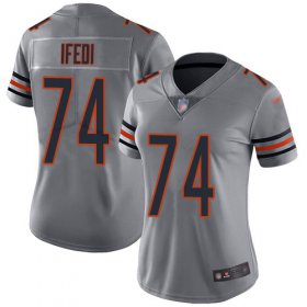 Wholesale Cheap Nike Bears #74 Germain Ifedi Silver Women\'s Stitched NFL Limited Inverted Legend Jersey