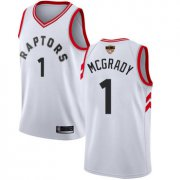 Wholesale Cheap Raptors #1 Tracy Mcgrady White 2019 Finals Bound Basketball Swingman Association Edition Jersey