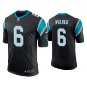 Wholesale Cheap Men's Carolina Panthers #6 P.J. Walker Vapor Limited Black Nike Jersey