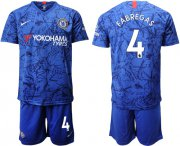 Wholesale Cheap Chelsea #4 Fabregas Home Soccer Club Jersey