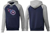 Wholesale Cheap Tennessee Titans Logo Pullover Hoodie Dark Blue & Grey