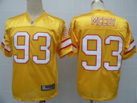 Wholesale Cheap Buccaneers #93 Gerald McCoy Yellow Stitched NFL Jersey