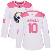 Wholesale Cheap Adidas Sabres #10 Henri Jokiharju White/Pink Authentic Fashion Women's Stitched NHL Jersey