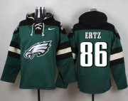 Wholesale Cheap Nike Eagles #86 Zach Ertz Midnight Green Player Pullover NFL Hoodie
