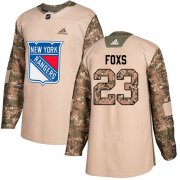 Wholesale Cheap Adidas Rangers #23 Adam Foxs Camo Authentic 2017 Veterans Day Stitched NHL Jersey