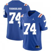 Wholesale Cheap Florida Gators 74 Jack Youngblood Blue Throwback College Football Jersey