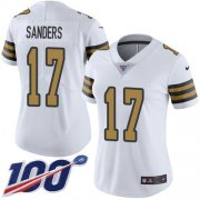 Wholesale Cheap Nike Saints #17 Emmanuel Sanders White Women's Stitched NFL Limited Rush 100th Season Jersey
