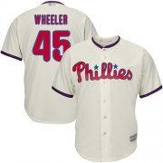 Wholesale Cheap Phillies #45 Zack Wheeler Cream New Cool Base Stitched MLB Jersey