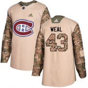 Wholesale Cheap Adidas Canadiens #43 Jordan Weal Camo Authentic 2017 Veterans Day Stitched NHL Jersey