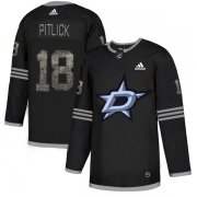 Wholesale Cheap Adidas Stars #18 Tyler Pitlick Black Authentic Classic Stitched NHL Jersey