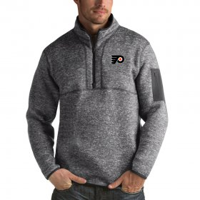 Wholesale Cheap Philadelphia Flyers Antigua Fortune Quarter-Zip Pullover Jacket Black