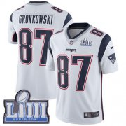 Wholesale Cheap Nike Patriots #87 Rob Gronkowski White Super Bowl LIII Bound Youth Stitched NFL Vapor Untouchable Limited Jersey
