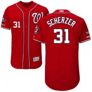 Wholesale Cheap Nationals #31 Max Scherzer Red Flexbase Authentic Collection 2019 World Series Champions Stitched MLB Jersey