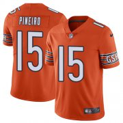 Wholesale Cheap Nike Bears #15 Eddy Pineiro Orange Men's Stitched NFL Limited Rush Jersey