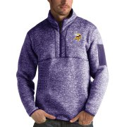 Wholesale Cheap Minnesota Vikings Antigua Fortune Quarter-Zip Pullover Jacket Heather Purple