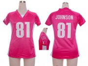 Wholesale Cheap Nike Lions #81 Calvin Johnson Pink Draft Him Name & Number Top Women's Stitched NFL Elite Jersey