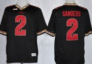 Wholesale Cheap Florida State Seminoles #2 Deion Sanders 2013 Black Jersey
