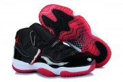 Wholesale Cheap Womens Air Jordan 11 (XI) Retro Shoes black/red-white