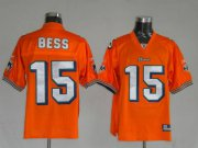 Wholesale Cheap Dolphins Davone Bess #15 Orange Stitched NFL Jersey