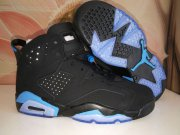 Wholesale Cheap Womens Air Jordan 6(VI) Retro Shoes Black/Blue