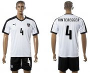 Wholesale Cheap Austria #4 Hinteregger White Away Soccer Country Jersey