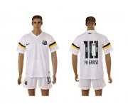 Wholesale Cheap Santos #10 PH Ganso White Home Soccer Club Jersey